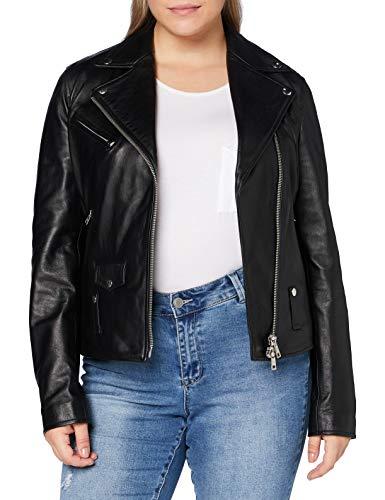 REPLAY W7292a.000.82926l Chaqueta de Cuero, 010 Black, XL para Mujer
