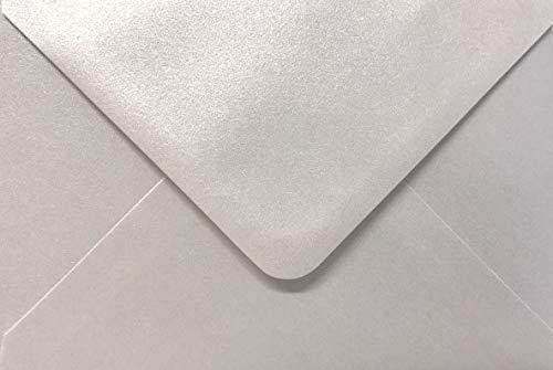 100x bianco perlato Shimmer C6(114x 162mm) buste di Cranberry