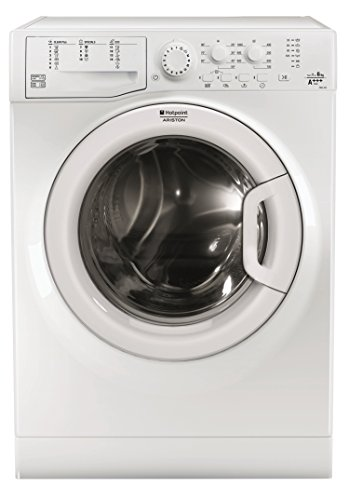 Hotpoint FMSL 603 EU Freestanding Front-load 6kg 1000RPM A+++ White washing machine - Washing Machines (Freestanding, Front-load, White, Left, White, Stainless steel)