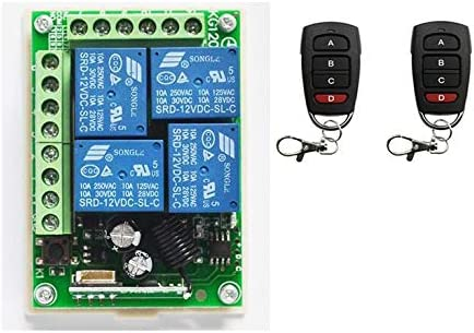 Credence Calvas HOT Columbus Mall 12V 4CH Channel Relay Control Wireless Remote RF Swit