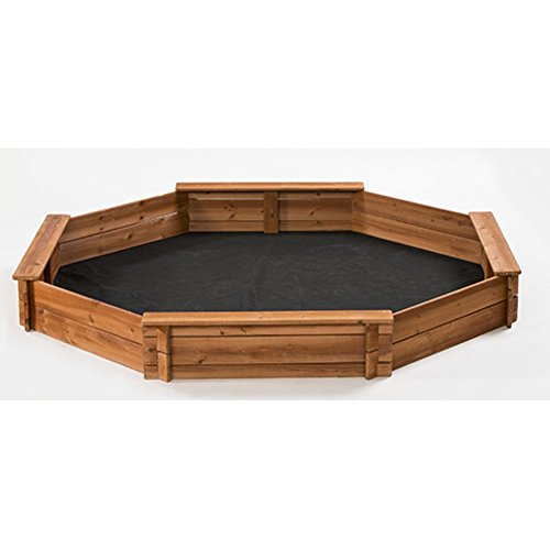 CreativeCedarDesigns 6.6' Octagon Sandbox, Kids Sandbox