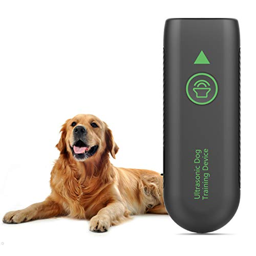 JZORI Anti Barking Control Device, 2 in 1 Rechargeable Ultrasonic Dog Bark Deterrent Dog Training Aid, 16.4 Ft Outdoor Indoor Sonic Anti-bark Repellent for Dogs, Built-in Rechargeable Battery