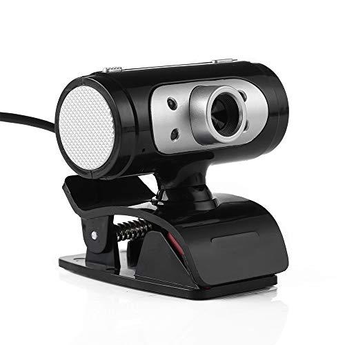 Hd Webcam, Full Hd 1080P Nachtzicht Webcam Usb 360° Rotatie Capture Voor Video bellen en opnemen, Verstelbare Led vullen Licht/Ingebouwde Microfoon, Klein formaat, Agile