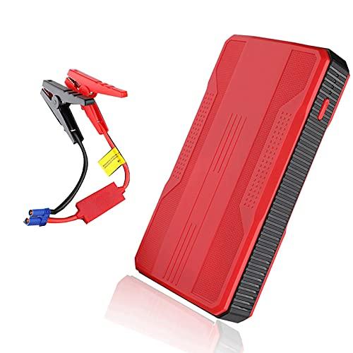 400A 20000mAh Car Jump Starter Batería emergencia Booster Herramienta eléctrica portátil exteriores 6.0L Gasolina 2.0L Motor diesel Cargadores inteligentes USB 12V Cargador LED ( Color : Red )