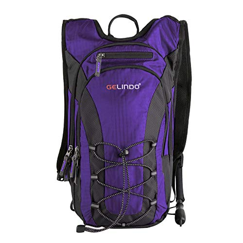 Gelindo Half Day Hiking Hydration Backpack with 2L BPA Free Water Bladder, Lightweight Insulated Compartment Prefect Outdoor Gear for Hiking Camping Daypack to Beginner 15L