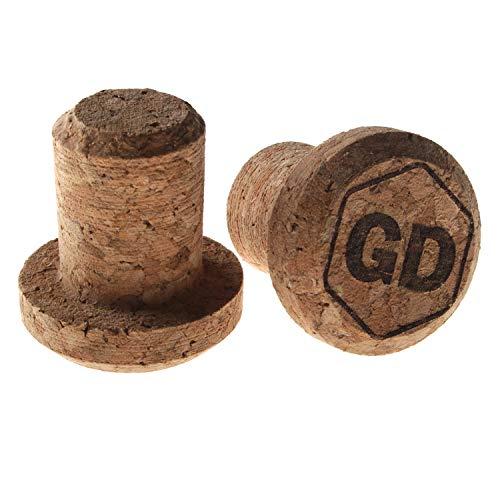 GD Grip Divison - Tapones de corcho para manillar de bicicleta de carreras, para Gravel, Fixie, Cyclecross y pistas, color natural