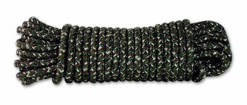 Chapuis DR63 Cuerda de polipropileno trenzada - 450 kg - Diámetro 6 mm - Largo 15 m - Camuflaje