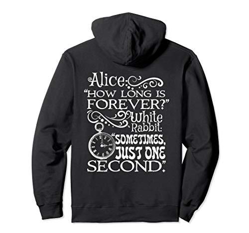 Schönes Alice im Wunderland 'How long is forever' Zitat Pullover Hoodie