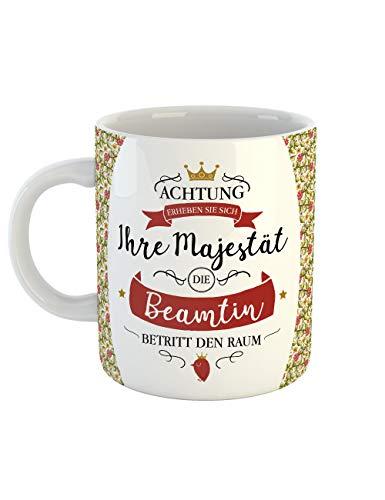 clothinx Beamten Tasse Mit Spruch Ihre Majestät die Beamtin Ideal Für Die Lieblingskollegin