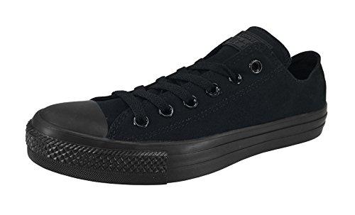 Converse Converse Unisex Chuck Taylor All Star Low Top Mono Black Sneakers - US Men 10 / US Women 12