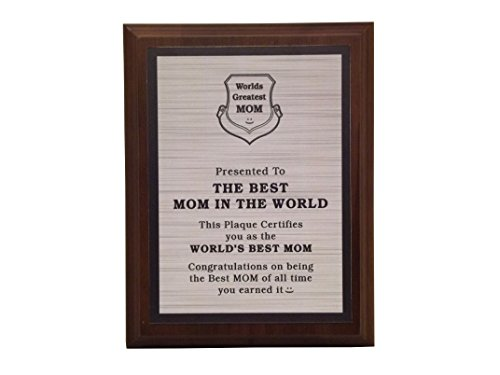 mom plaques aahs!! Engraving Worlds Greatest Plaques (The Best Mom in The World, Silver)