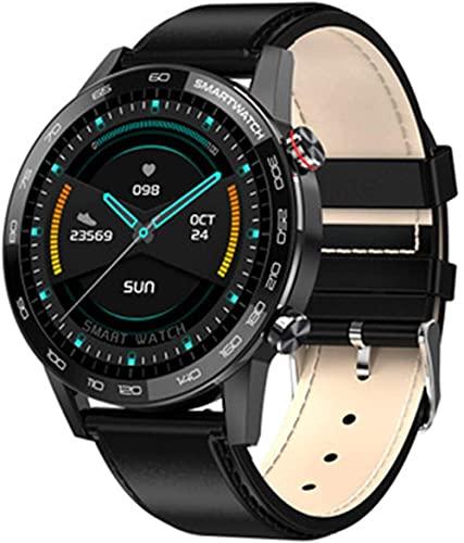 L16 Smart Watch Hombres s ECG PPG Smartwatch IP68 Bluetooth Control de Música Presión Arterial Ritmo Cardíaco Fitness Pulsera-D