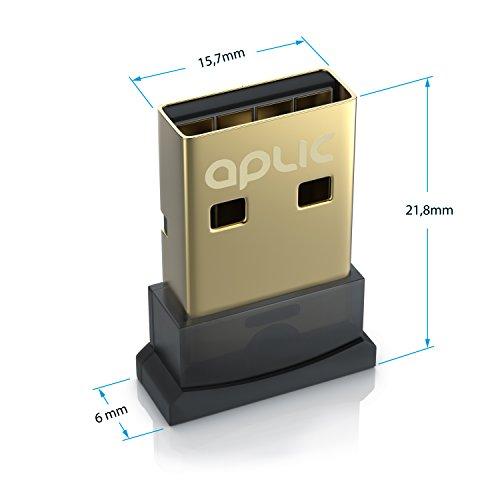 CSL - Bluetooth 4.0 USB Adapter - V4.0 verbesserte Energieeffizienz - Bluetooth Class 4.0 Technologie - Plug and Play - Neues Modell - Windows 10 8.1 8 7 Vista XP 32-Bit und 64-Bit