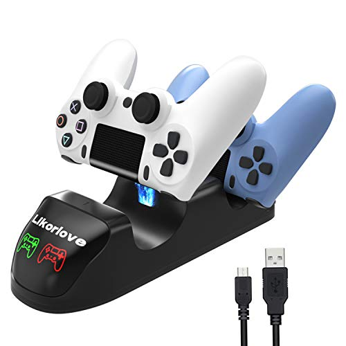 PS4 Controller Charger, DualShock 4 Controller USB Charging Station Dock, Playstation 4 Charging Station for Playstation4 / PS4 / PS4 Slim / PS4 Pro Controller