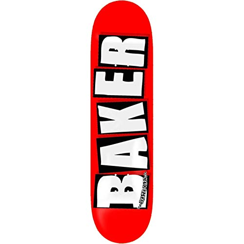 Baker Skateboards Skateboard-Brett / Deck, 21 x 80 cm, Rot / Weiß