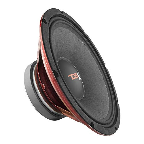 DS18 PRO-X12.4M Loudspeaker - 12' Midrange, Red Steel Basket, 900W Max, 450W RMS, 4 Ohms, 2' Kapton VC - Premium Quality Audio Door Speakers for Car or Truck Stereo Sound System (1 Speaker)