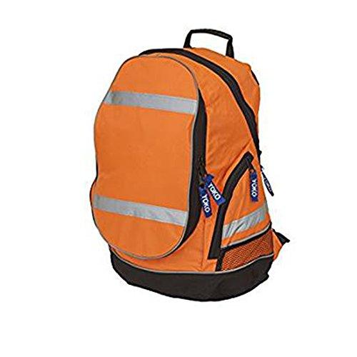 Yoko YK8001 London Sac à dos haute visibilité en tissu 100 % polyester conforme à la norme ISO20471 Orange