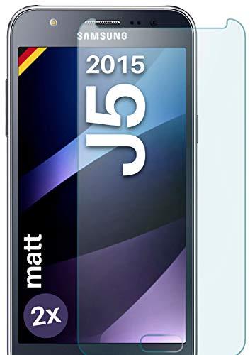 2x OneFlow Cristal extrafuerte antirreflejos para Samsung Galaxy J5 (2015) Lámina extrafuerte...