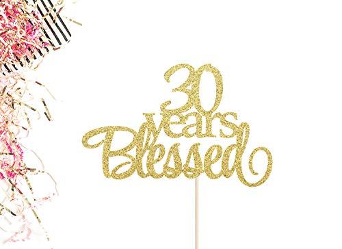 30 Jaar Gezegende Taart Topper 30e Bruiloft Verjaardag Taart Topper Dertig Taart Topper 30 Taart Topper 30 Jaar hield van Hallo 30