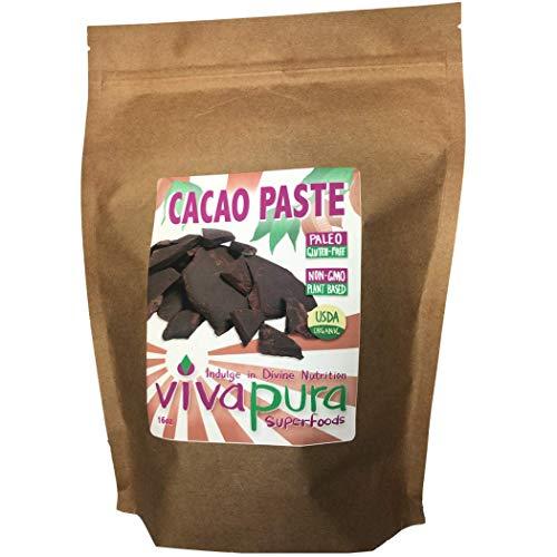 Cacao Paste, Ceremonial Grade, Organic,16oz Compostable Bag