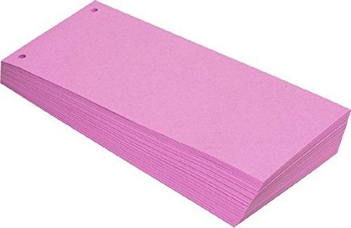 Büroring BüroLine Trennstreifen rosa 10,5x24cm, 190g/qm Karton, geloc , 660578