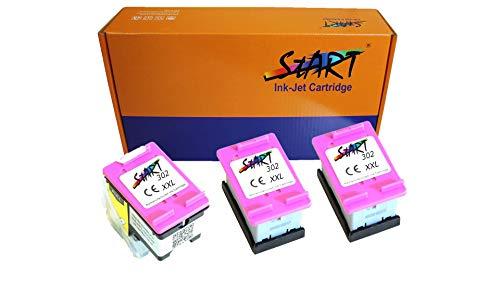 Sparpaket 3 XL Ersatz Tintenpatronen kompatibel zu HP 302XL Color