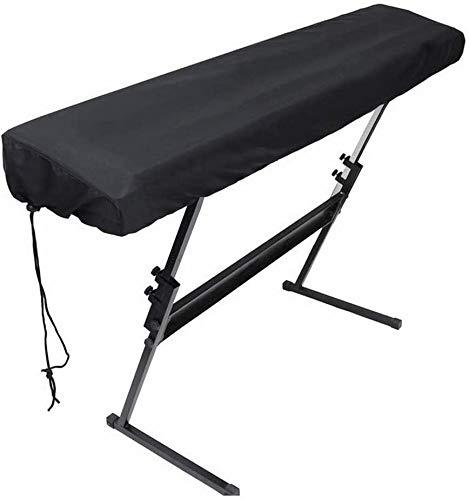 Housse de Protection pour Claviers, CoMoo Housse de Protection Antipoussière Couvercle pour Clavier Piano 88 touches Electronique (Noir)