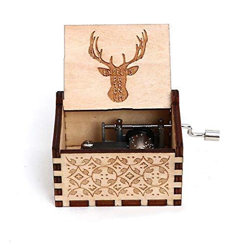 FGHFG Wooderful Life Spieluhr aus Holz, Echo, handgekröpft, Geschenk für Weihnachten, Geburtstag, Valentinstag