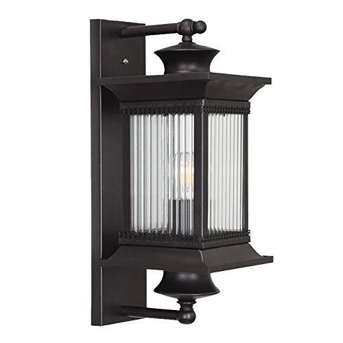 QJY LED-Außenwandleuchte Habitat Moderne Außenwandleuchte Fixture und Warm Klarglas for Außenhaus Porch Patio Deck