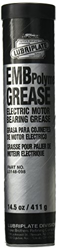 Lubriplate L0148-098 Off-White ISO-9001 Registered Quality System, ISO-21469 Compliant 100 cSt Electric Motor Bearing Grease (Pack of 10)