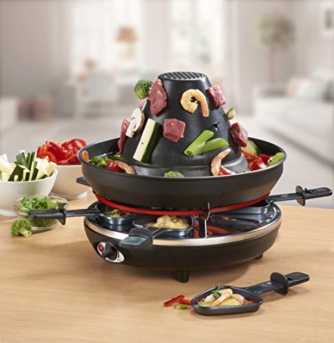 Raclette-Grill mit Tartarenhut und Fondue 3in1, 1500 Watt, 8-teilig