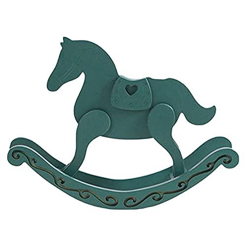 Ruiqas, tronchi nordici fatti a mano a dondolo cavallo ornamenti per la casa arte cavallo in legno decorazione tavolo artigianato per bambini regali di compleanno
