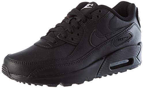 Nike Unisex-Kinder Air Max 90 Ltr Big Kids' Shoe Laufschuh, Black/Black-Black-White, 38 EU