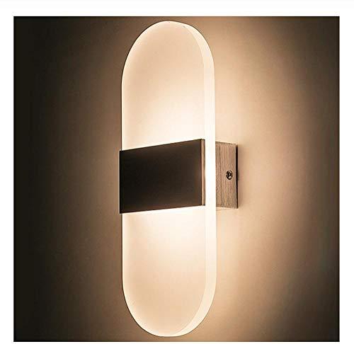 Moderne wandlamp led indoor wandlampen led wandkandelaar lamp verlichting voor slaapkamer woonkamer trap spiegel licht rond acryl mat zwart koud wit 1