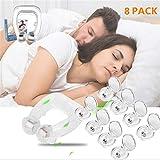8 pack Antironquidos Clip Nasal Magnético, Dilatador Nasal para Detener los Ronquidos, Facilitar la Respiración y Dormir Cómodo (8pack)