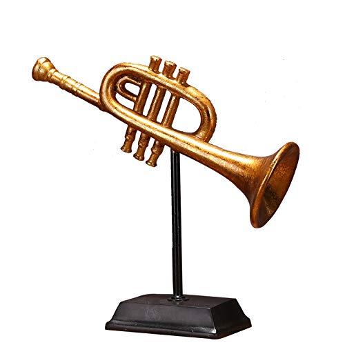 DAJIADS beeldje beeldjes beeldjes beeldjes beeldje beelden beelden beelden Boeddha vintage trompet model handgemaakte hars cornet miniatuur muziek Adornment ambacht accessoires voor kunst collectie en souvenir cadeau