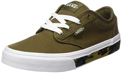 Vans Unisex Kinder Atwood Canvas Sneaker, Camo Seitenwand Military Olive White, 36 EU