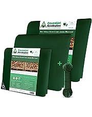 CoverUp! Dekzeil 120 g/m2, als afdekzeil met oogjes voor tuinmeubelen, zwembad, auto, waterdicht & scheurvast beschermend zeil, vrachtwagenzeil groen
