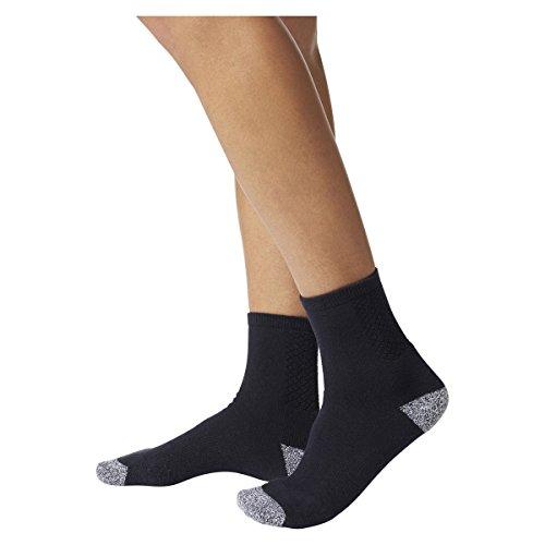 adidas, Calcetines de tenis, color azul oscuro, gris, talla 37-39