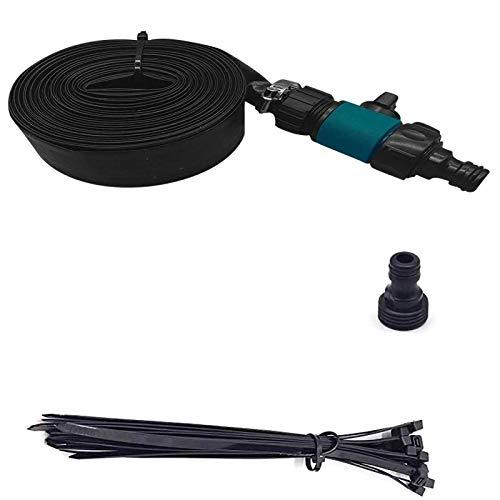 YYLL Trampolín antiincendios - Trampolín acuático de riego 12m Manguera de riego (Negro) (Color : Black)