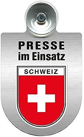 Einsatzschild Windschutzscheibe Incl Saugnapf Presse Im Einsatz 309456 Incl