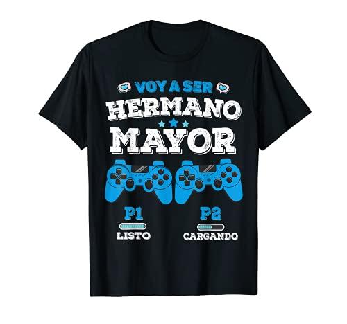 Voy a Ser un Hermano Mayor Anuncio Embarazo Niños Juego Camiseta