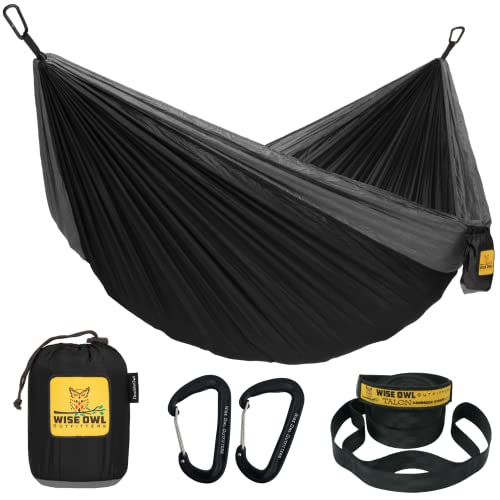 Wise Owl Outfitters Hammock for Camping Single & Double Hammocks Gear for The Outdoors Backpacking...