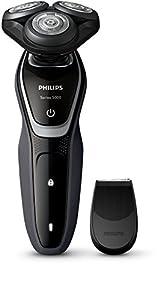 Philips S5110 - Afeitadora (Rotación, Black, Plata, Carga, Batería, Ión de litio, 1 h)
