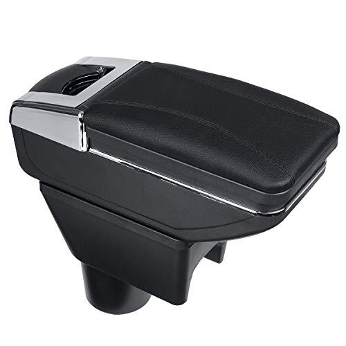 XKMY Caja de almacenamiento para reposabrazos de coche para Renault Dacia Duster Nissan Terrano (color: negro)