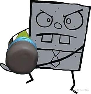 LA STICKERS Doodlebob - Spongebob - Sticker Graphic - Auto, Wall, Laptop, Cell, Truck Sticker for Windows, Cars, Trucks