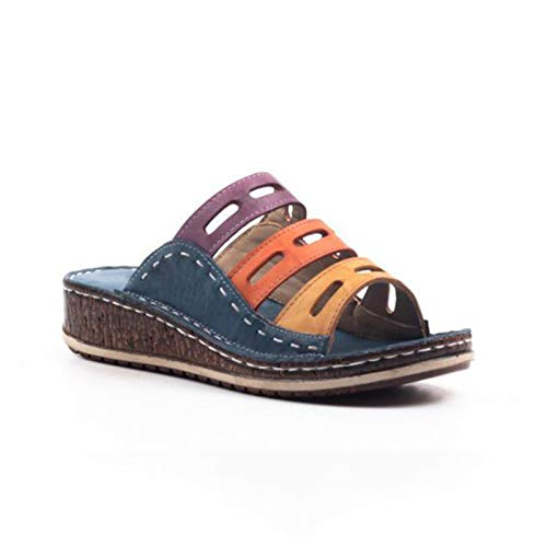 Xiaorong Zomer Dames Slippers Peep Toe Lage Hak Sandalen Open Teen Outdoor Slippers Wedges Slippers voor Vrouwen
