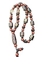 ZHIBO Natürlicher Achat Dzi Perlen Halskette Buddha Perlen Herren und Frauen Schmuck