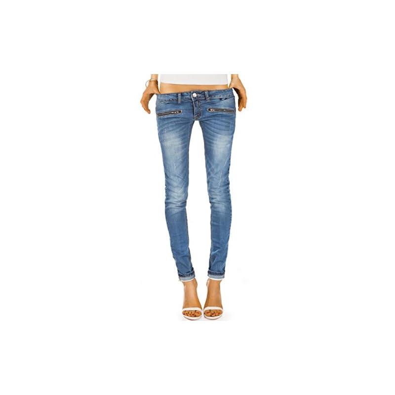 bestyledberlin Damen Jeans Hosen Blau