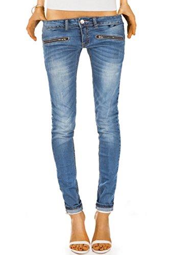 Bestyledberlin Damen Jeans Hosen, Hueftjeans j03i 36/S, Blau